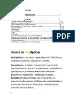 Guia de Opciones Binarias de BeeOptions