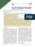"""Sha Et Al. - JACS 2013 - Raising the pKa Limit of """"Soft"""" Nucleophiles"""