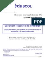 Document Ressource Metrologie Octobre 2013