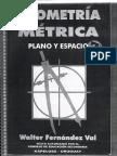 GEOMETRIA METRICA Plano y Espacio - Walter Fernandez Val
