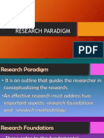 Lesson 4 Research Process, Paradigm and Outline