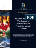 CD HOWE- Risk and Readiness- The Impact of Automation on Provincial Labour