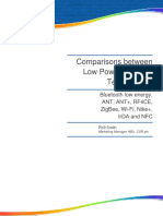 Comparisons Between Low Power Wireless Technologies