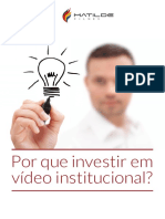 eBook MatildeFilmes Por Que Investir Em Video Institucional