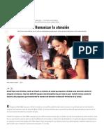 Humanizar La Atención – Revista Soberanía Sanitaria