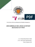Pfc - Desarrollo de Aplicaciones Basadas en Wsn