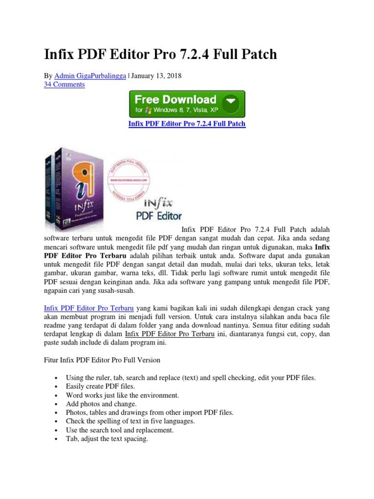 Infix PDF Editor Pro 7 2 4 Full Patch