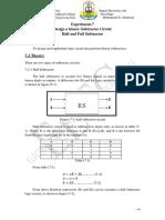 Exper-7 Binary Logic Subtractor Circuit