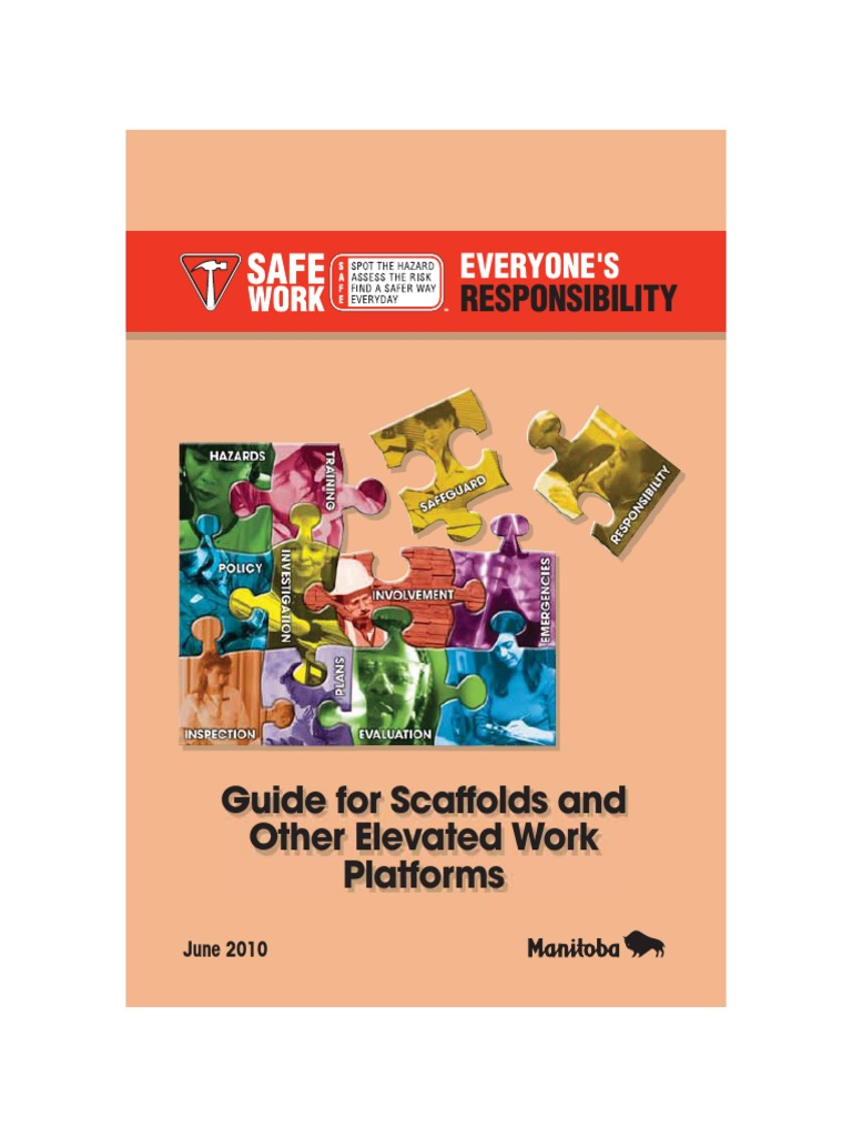 Guide for Scaffolds and Other Elevated Work Platforms | Scaffolding |  Framing (Construction)