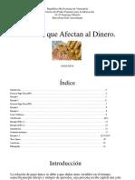 Factores Que Afectan El Dinero (OLIVER)
