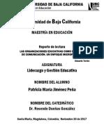 Reporte de lectura N° 1 liderazgo educativo