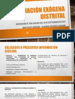 Información Exógena Distrital