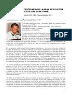 100 Años de La Revolución de Octubre, Intervención de Valentin Pacho, Vice Presidente de la Federacion Sindical Mundial. (1)