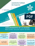 Presentación Sistema Aseguramiento Calidad - Procedimiento Registros Calificados