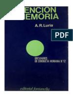 1979. (Luria, A.) Atención y Memoria