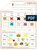 Worksheets Colours 1
