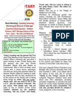 Moraga Rotary Newsletter February 7 2018