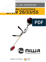 Manual Operador Desmalezadoras Niwa DNW 26-33-52