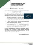 COMUNICADO PNP N° 06 - 2018