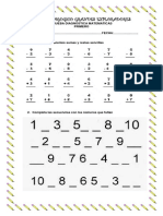 Prueba Diagnostica Matematicas Primero