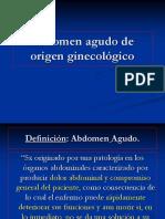 Abdomen Agudo de Origen Ginecologico