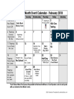black history month event calendar - updated 01-30-2018