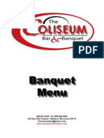 Coliseum Bar Madison Banquet Menu - Madison, WI