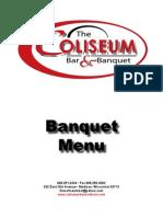 Coliseum Bar Madison Banquet Menu - Madison, WI