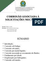 CORROSÃO ASSOCIADA Á SOLICITAÇÕES MECÂNICAS.ppt