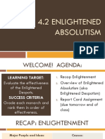 4.2 Enlightened Absolutism