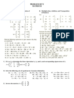 Problem Set I-matrices
