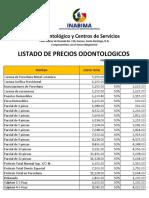 Tarifas Odontologicas 2017 - Actualizadas 29.11.2017