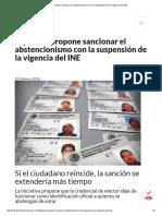 Diputado Propone Sancionar El Abstencionismo Con La Suspensión de La Vigencia Del INE