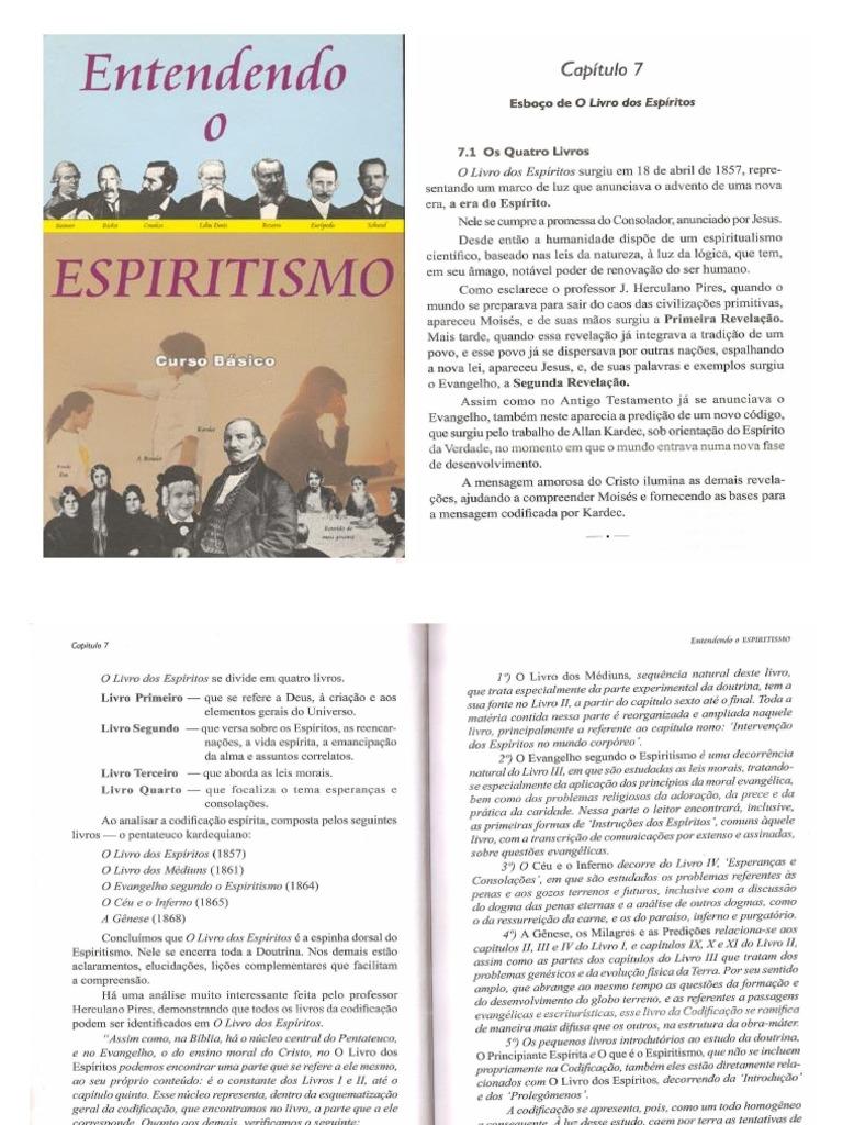 Entendendo o espiritismo: curso básico autores diversos, livro.