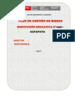 PLAN DE GESTIÓN DE RIESGO I.E