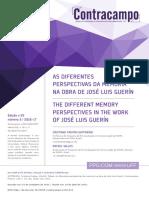 Cristiane Freitas Gutfreind - As diferentes perspectivas da memória na obra de José Luis