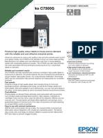 Epson ColorWorks C7500G Datasheet