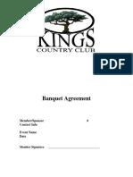 Banquet Agreement