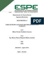 Electrónica I Tarea de Filtro Capacitivo