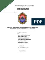 Plan de gestion ambiental de Marvisur
