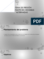Sistema de Presión Contante de 2 Bombas Alternadas