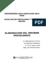 Elaboracion Del Informa Psicokogico