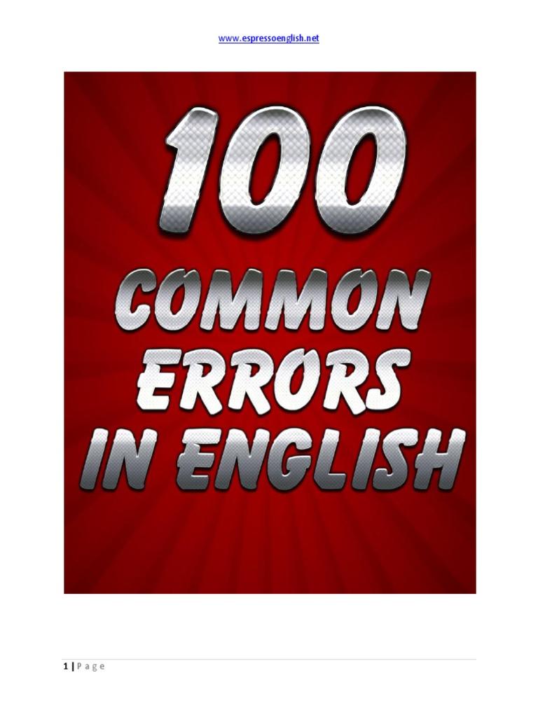 100 Common Errors In English Ebook