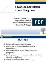 Adaptive Managemen Dalam Restorasi Mangrove