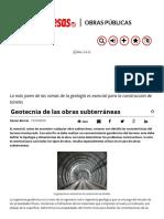 Geotecnia de Las Obras Subterráneas - Obras Públicas