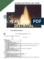 Plan Urbano Distrital - Jose Luis b y Rivero