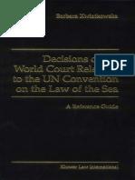 [Barbara Kwiatkowska] Decisions of the World Court(BookFi)