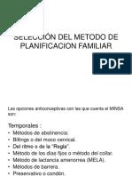 Selección Del Metodo de Planificacion Familiar 1