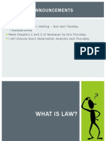 Class 2 - What is Law