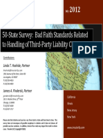 50-State Survey_Bad Faith Standards Related to the Handling of Third-Party Liability Claims